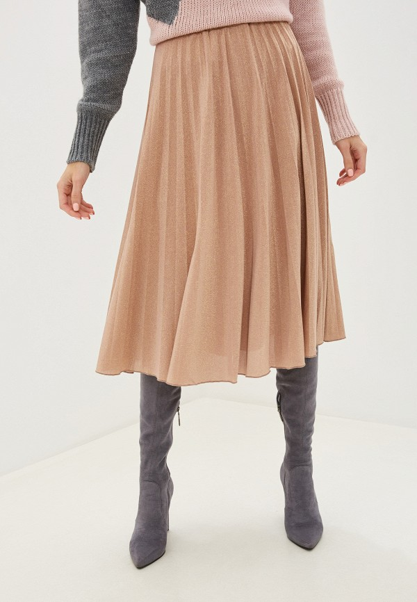 женская юбка rinascimento, бежевая