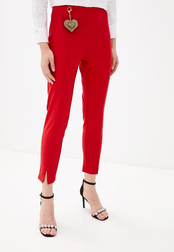 женские повседневные брюки rinascimento, красные