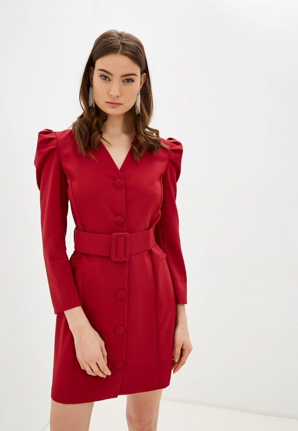 женское повседневные платье rinascimento, бордовое