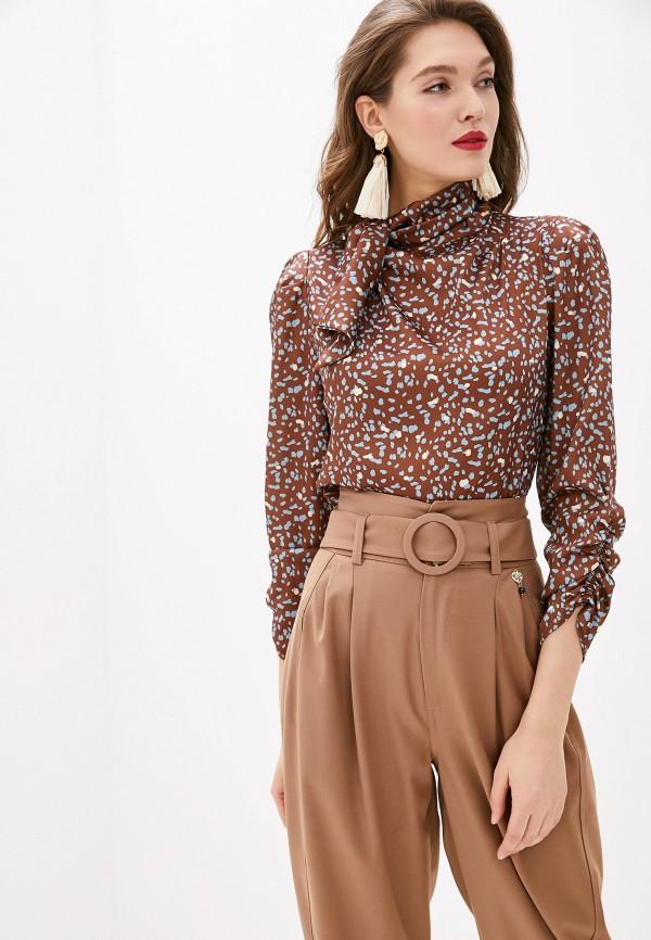 женская блузка rinascimento, коричневая