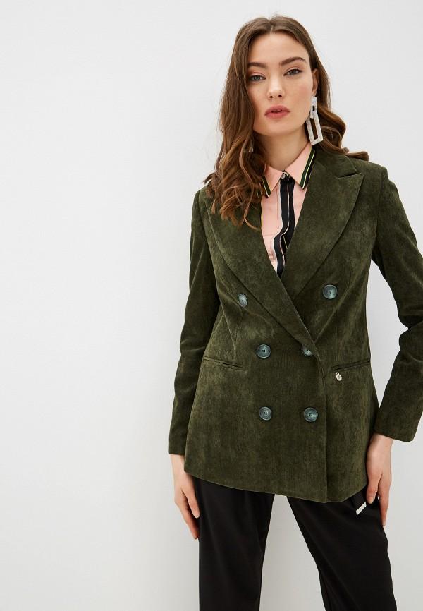 женский пиджак rinascimento, хаки