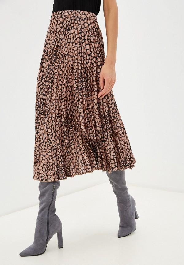 женская юбка rinascimento, коричневая