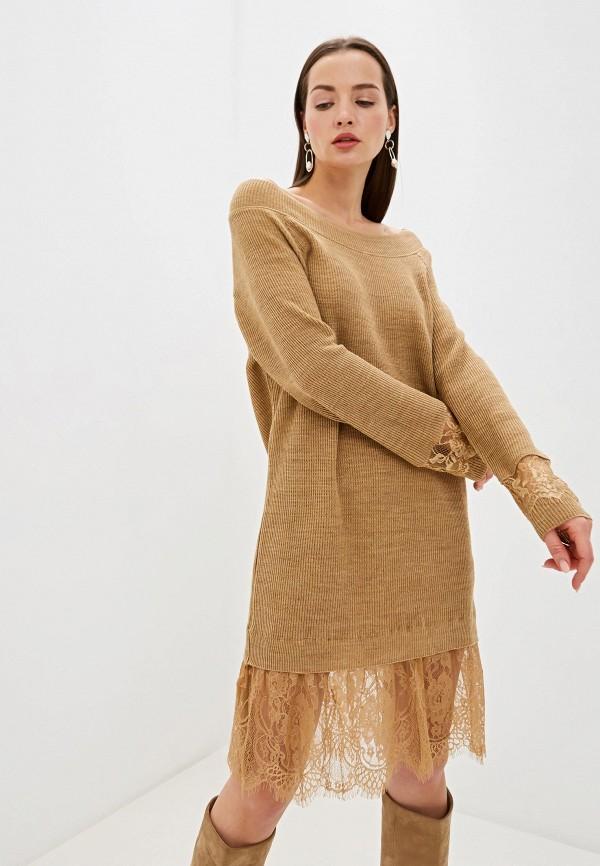 женское платье rinascimento, бежевое