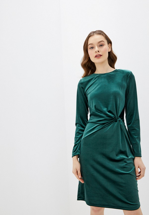 женское вечерние платье rinascimento, зеленое