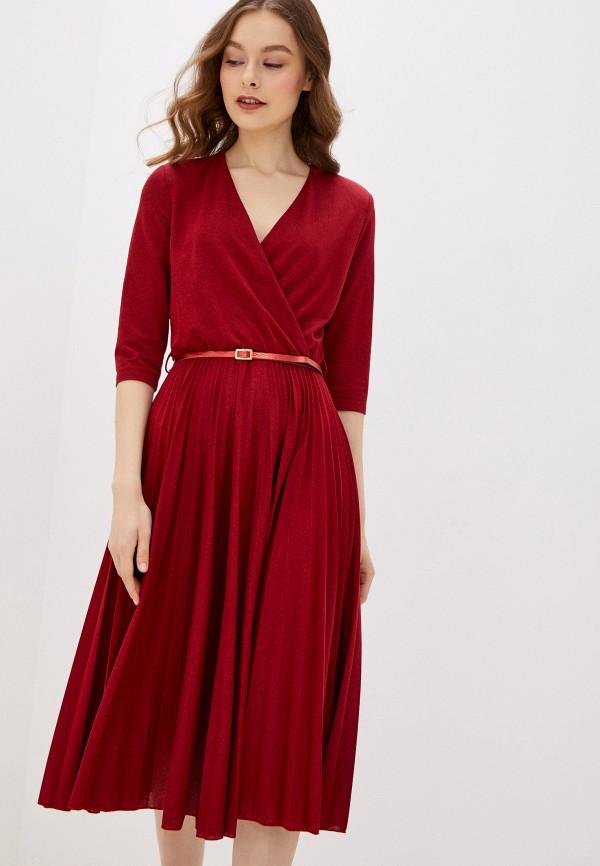 женское вечерние платье rinascimento, бордовое