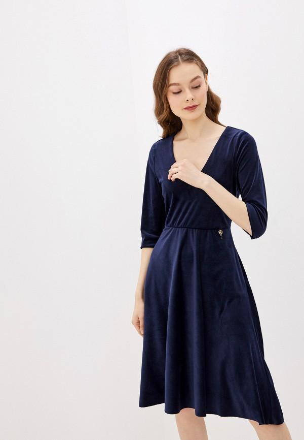 женское повседневные платье rinascimento, синее