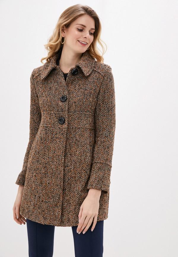 женское пальто rinascimento, коричневое