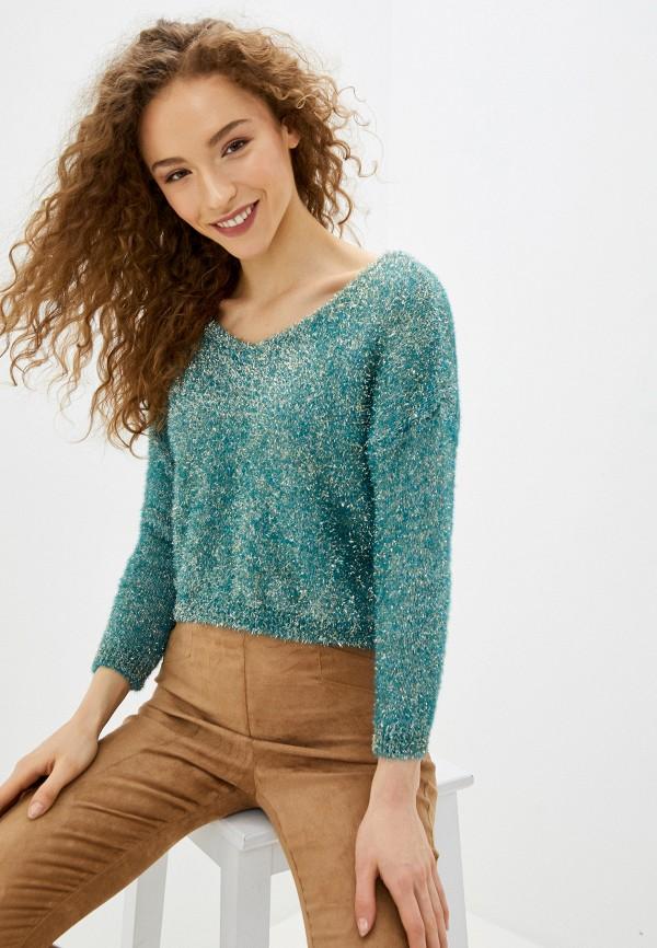женский пуловер rinascimento, бирюзовый