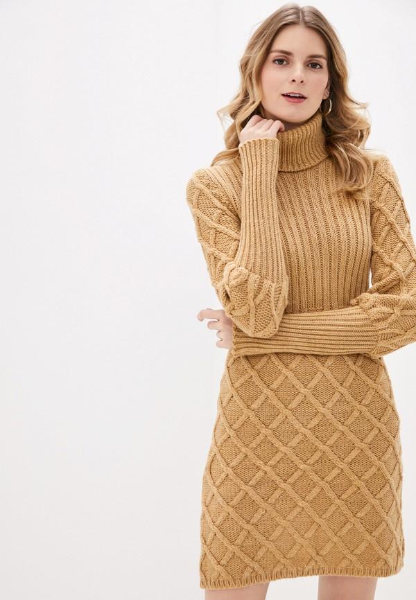 женское платье rinascimento, коричневое
