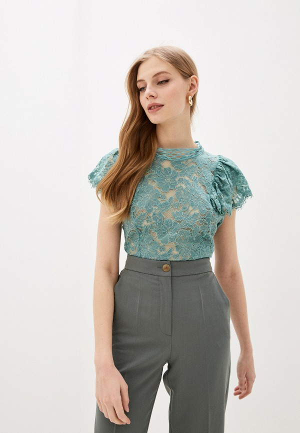 женская блузка rinascimento, зеленая