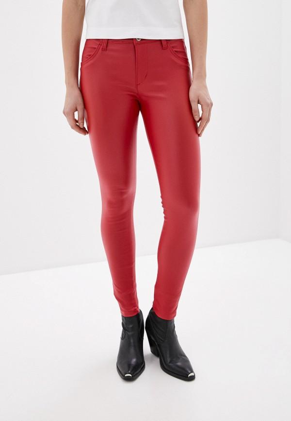 женские кожаные брюки rinascimento, красные
