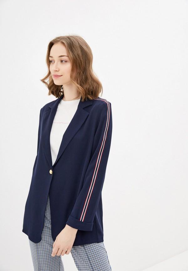 женский пиджак rinascimento, синий