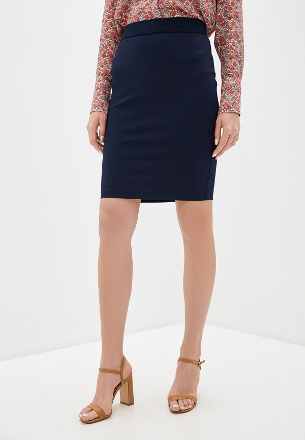 женская зауженные юбка rinascimento, синяя