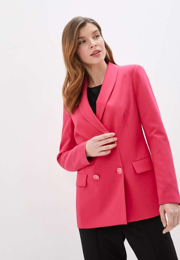 женский пиджак rinascimento, розовый