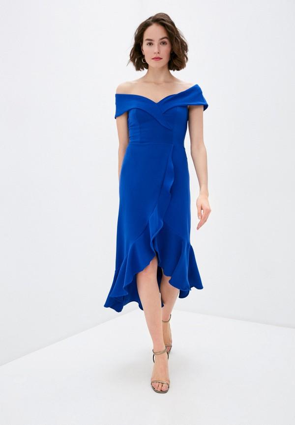 женское вечерние платье rinascimento, синее