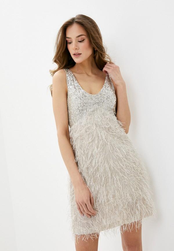 женское вечерние платье rinascimento, бежевое