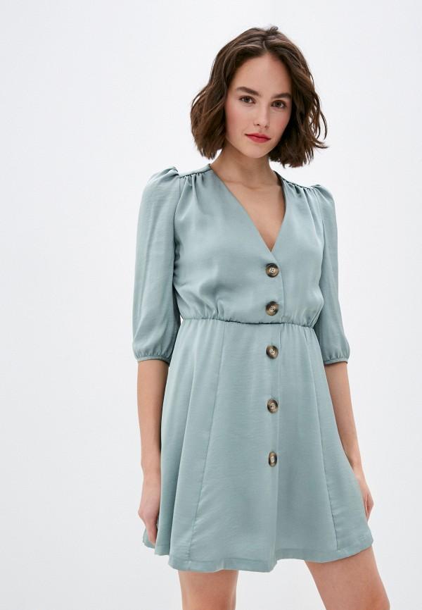женское повседневные платье rinascimento, бирюзовое