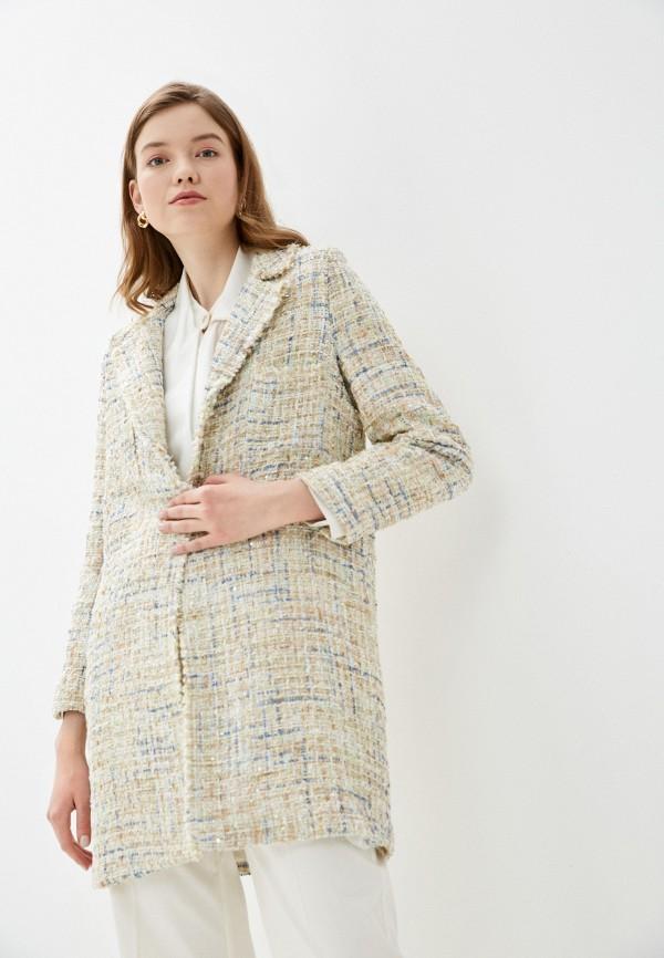 женское пальто rinascimento, бежевое