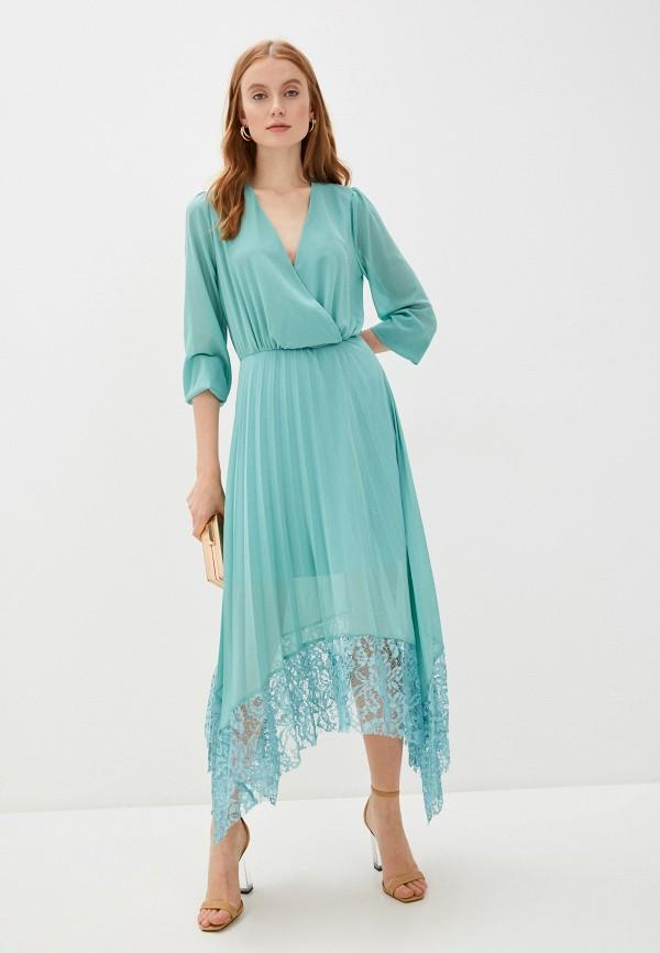 женское вечерние платье rinascimento, бирюзовое