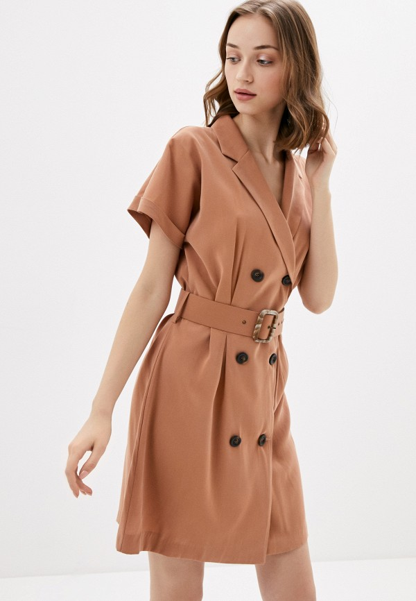 женское повседневные платье rinascimento, коричневое