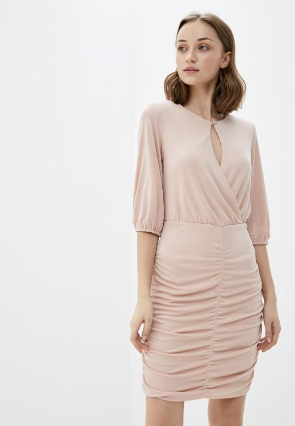 женское вечерние платье rinascimento, розовое