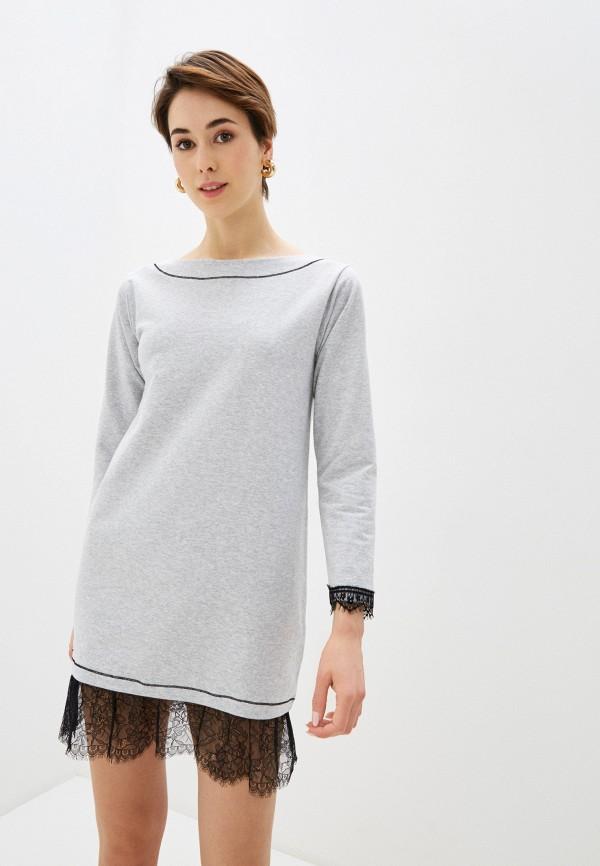 женское платье rinascimento, серое