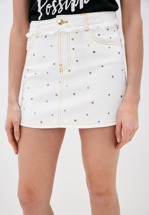 женская джинсовые юбка rinascimento, белая