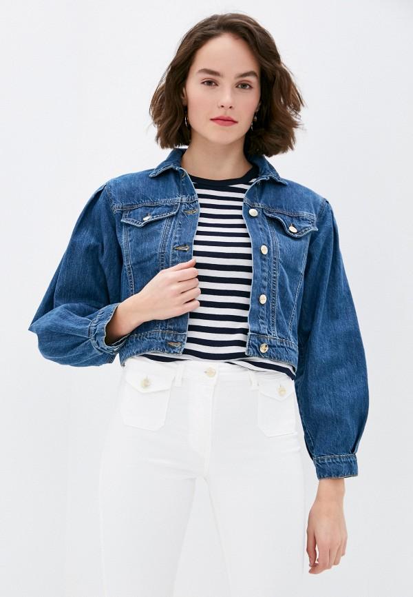 женская джинсовые куртка rinascimento, синяя