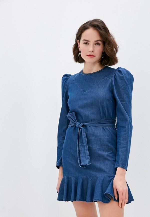 женское джинсовые платье rinascimento, синее