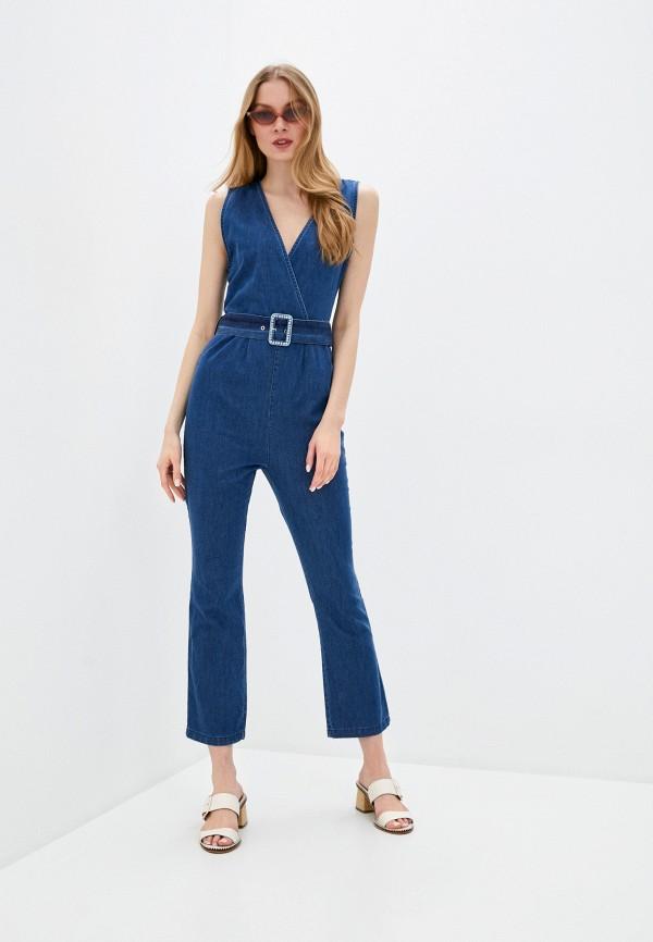 женский джинсовые комбинезон rinascimento, синий