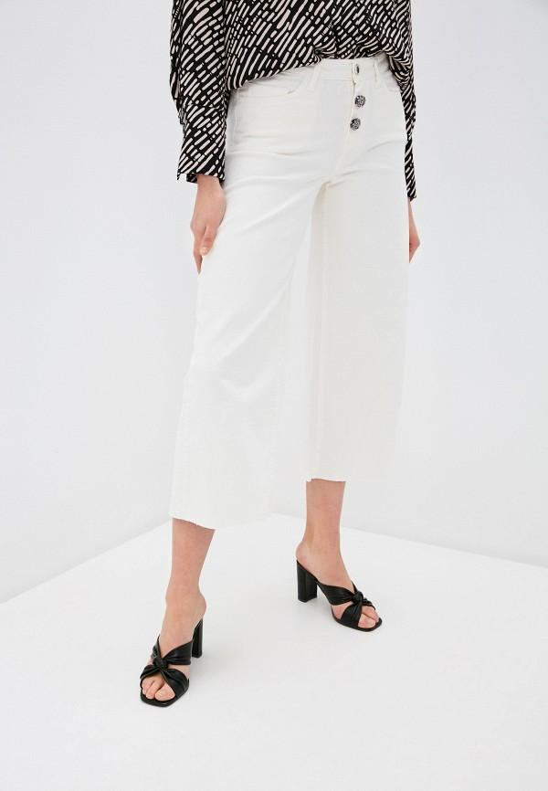 женские джинсы клеш rinascimento, белые
