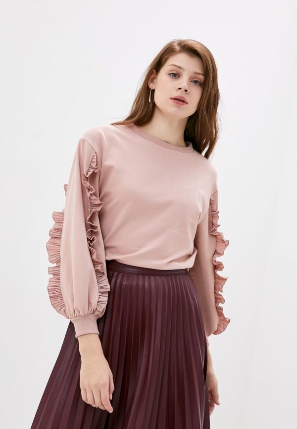 женский свитшот rinascimento, розовый