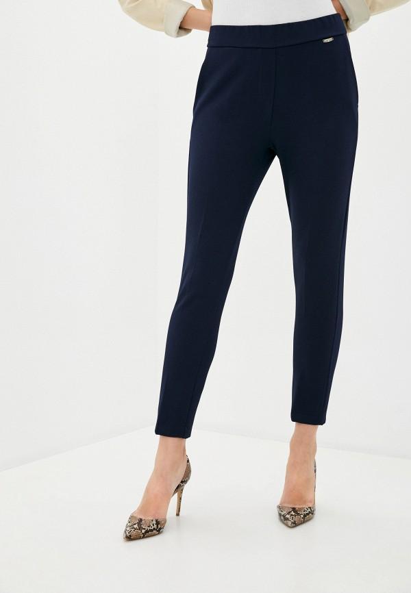 женские классические брюки rinascimento, синие
