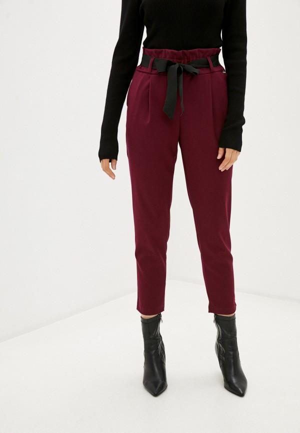 женские повседневные брюки rinascimento, бордовые