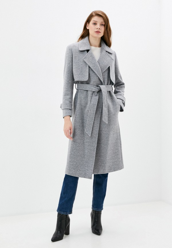 женское длинные пальто rinascimento, серое