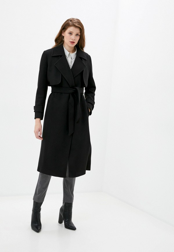 женское пальто rinascimento, черное