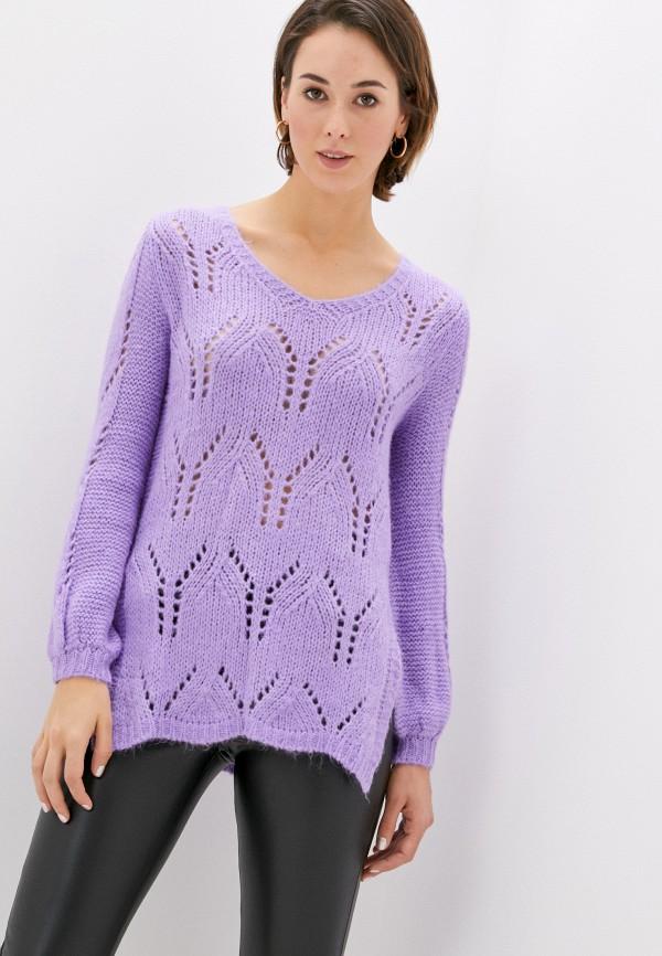 женский пуловер rinascimento, фиолетовый