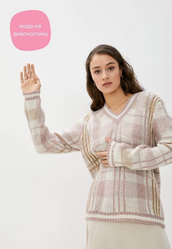 женский пуловер rinascimento, розовый