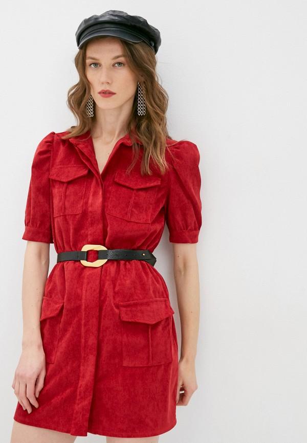 женское повседневные платье rinascimento, красное