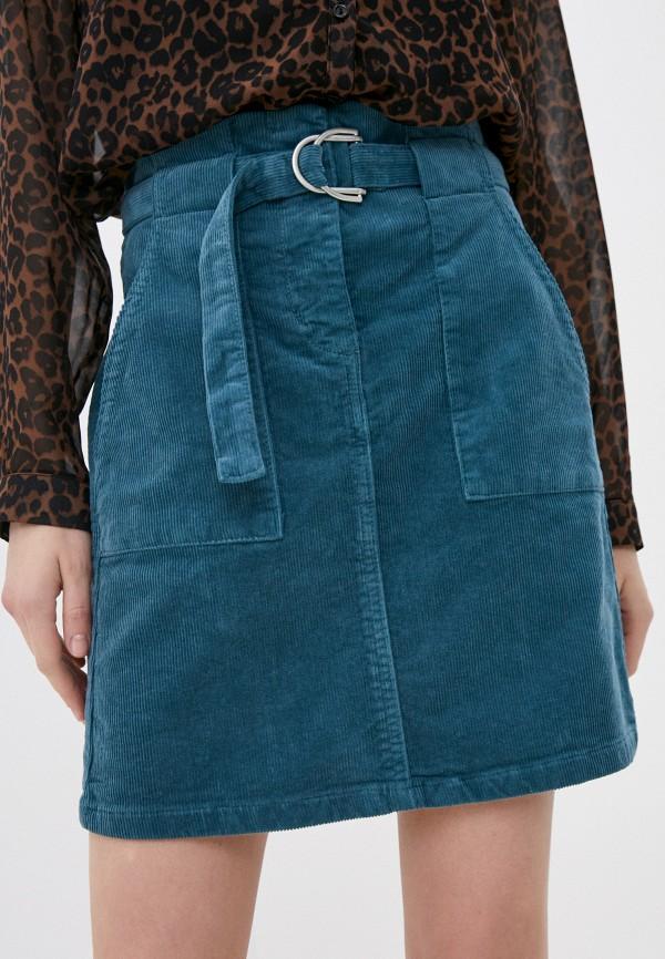 женская прямые юбка rinascimento, зеленая