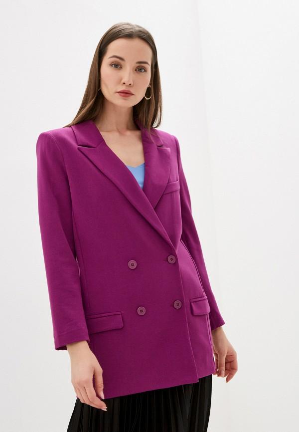 женский пиджак rinascimento, фиолетовый
