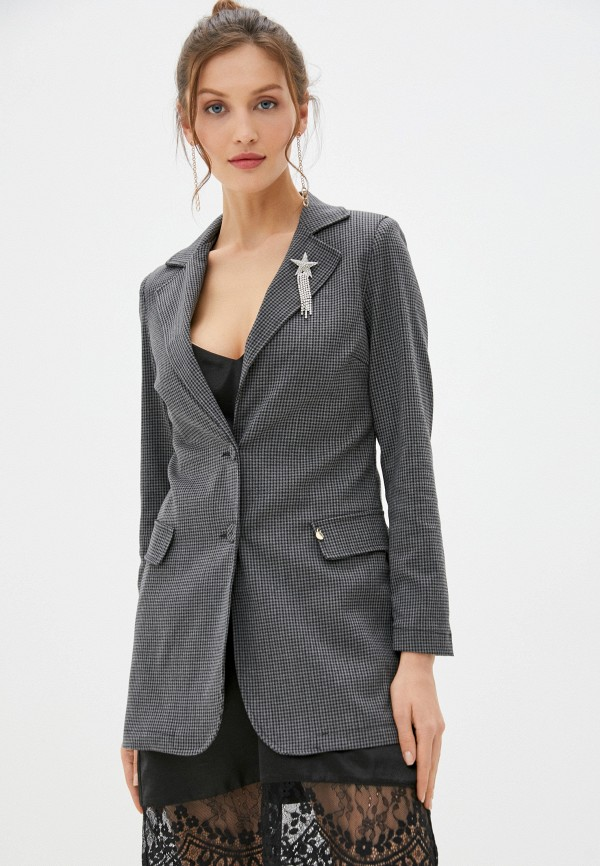 женский пиджак rinascimento, серый