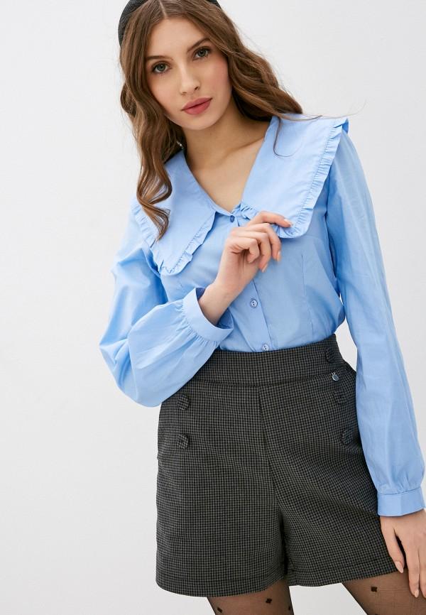 женская блузка rinascimento, голубая