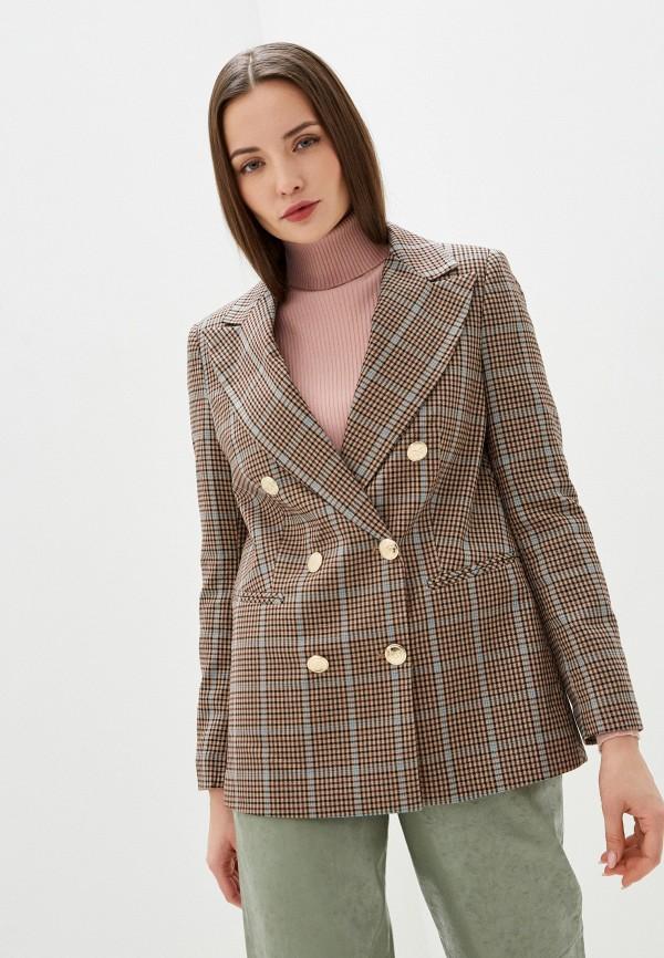женский пиджак rinascimento, бежевый