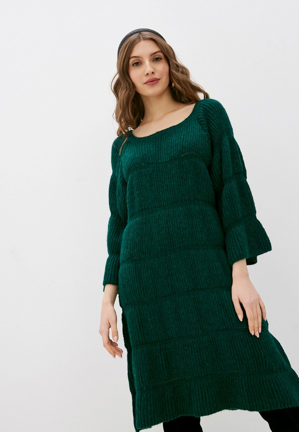 женское платье rinascimento, зеленое