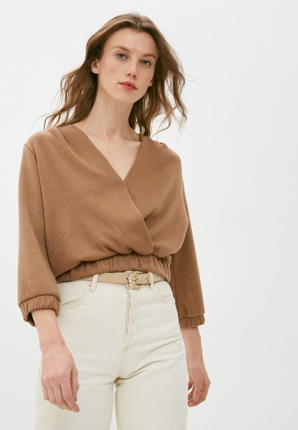 женский пуловер rinascimento, коричневый