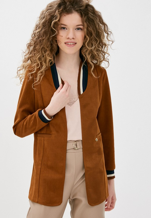 женская куртка rinascimento, коричневая