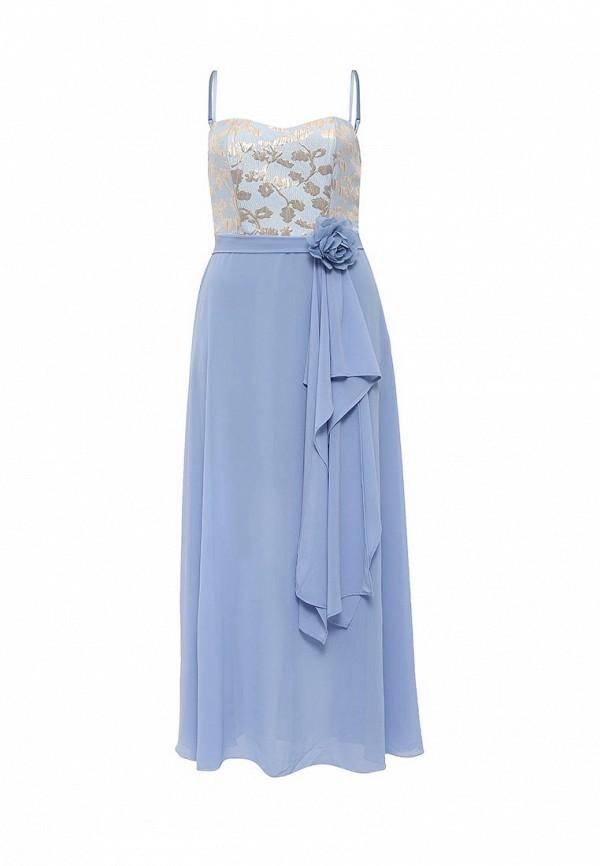 женское вечерние платье rinascimento, голубое