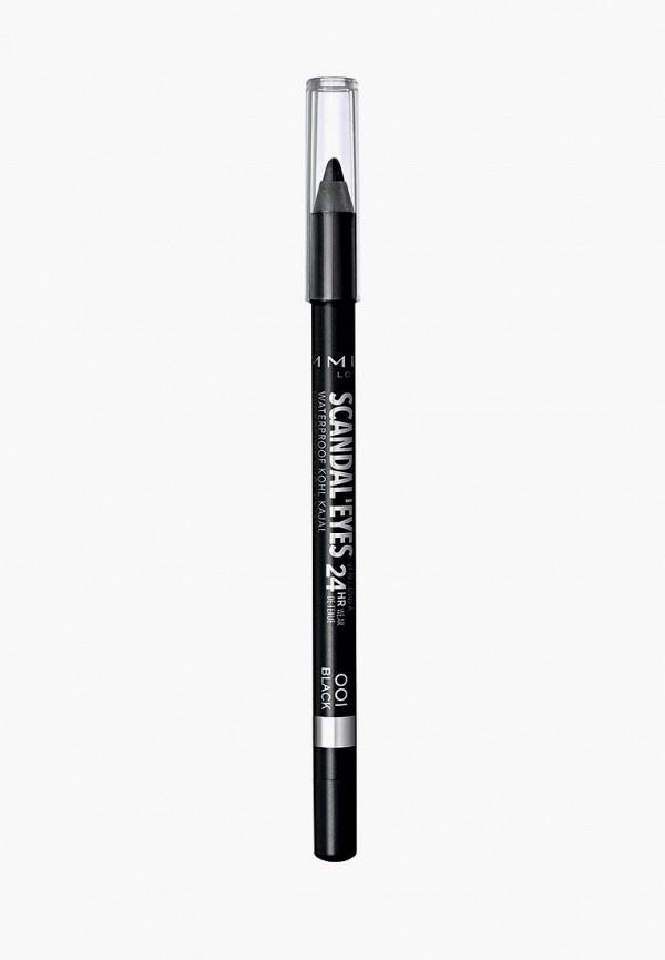 карандаш для глаз rimmel, черный