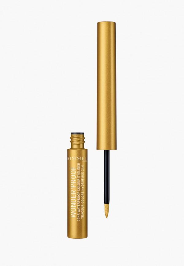 женский подводка для глаз rimmel, золотой